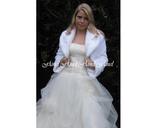 Шубка на свадьбу №49 для невесты прокат