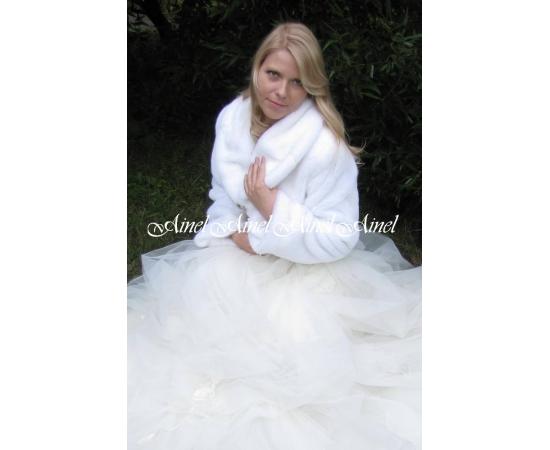 Свадебная шубка №49 для невесты напрокат