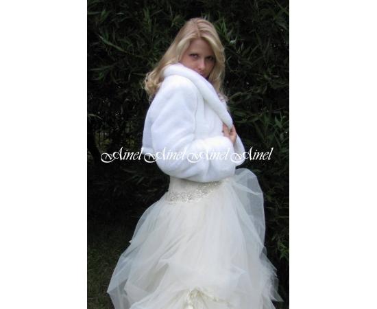 Свадебная шубка №49 для невесты в прокат