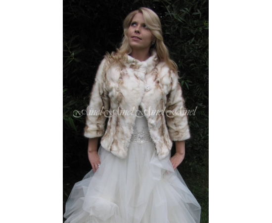 Свадебная шубка №54 для невесты в прокат