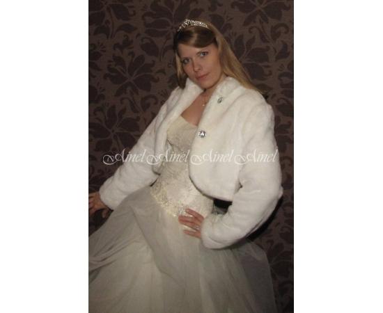 Шубка на свадьбу №63 для невесты прокат
