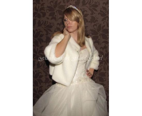 Шубка на свадьбу №55 для невесты прокат
