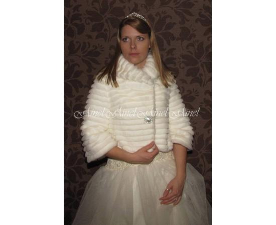 Шубка на свадьбу №62 для невесты напрокат