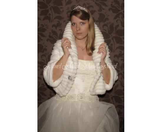 Шубка на свадьбу №62 для невесты в прокат