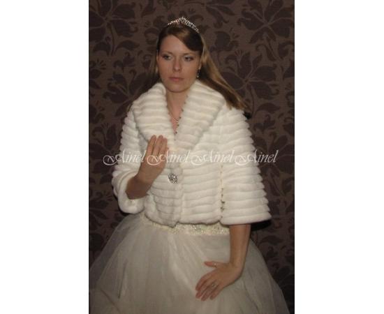 Свадебная шубка №62 для невесты прокат