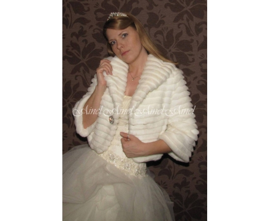 Свадебная шубка №62 для невесты в прокат