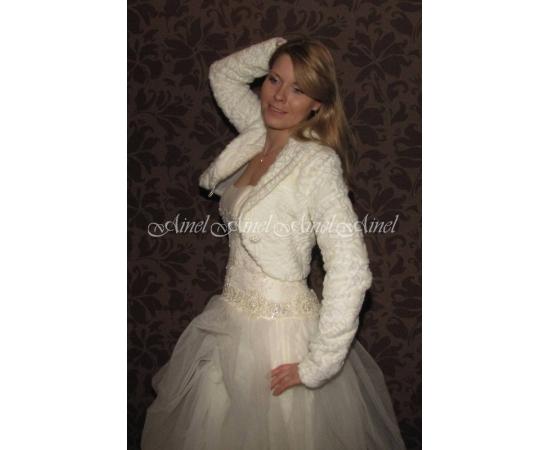 Свадебная шубка №57 для невесты прокат