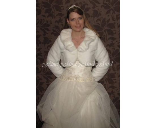 Шубка на свадьбу №61 для невесты прокат