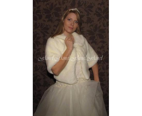 Шубка на свадьбу №59 для невесты напрокат