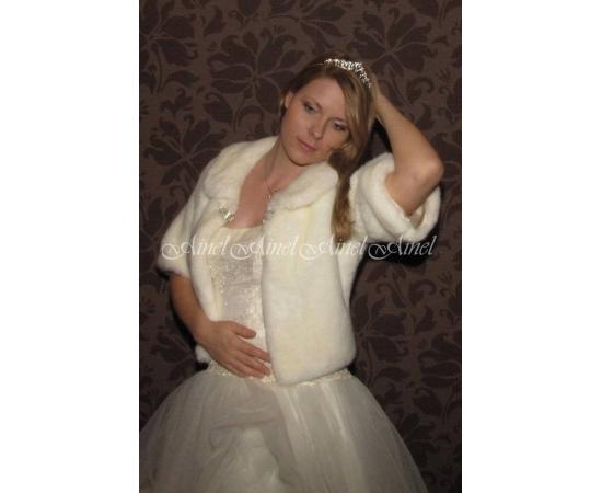Шубка на свадьбу №59 для невесты прокат