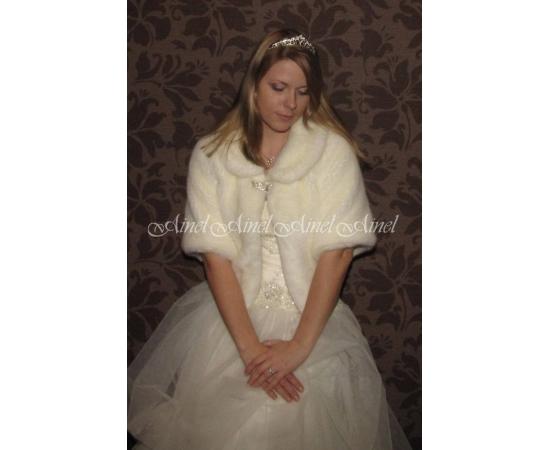 Свадебная шубка №59 для невесты напрокат