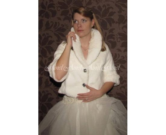 Шубка на свадьбу №67 для невесты напрокат