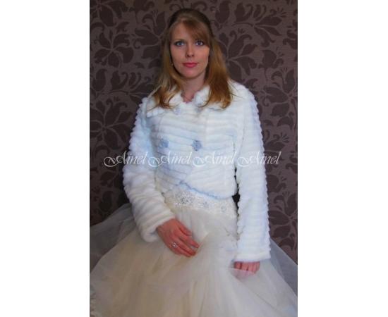 Шубка на свадьбу №75 для невесты прокат