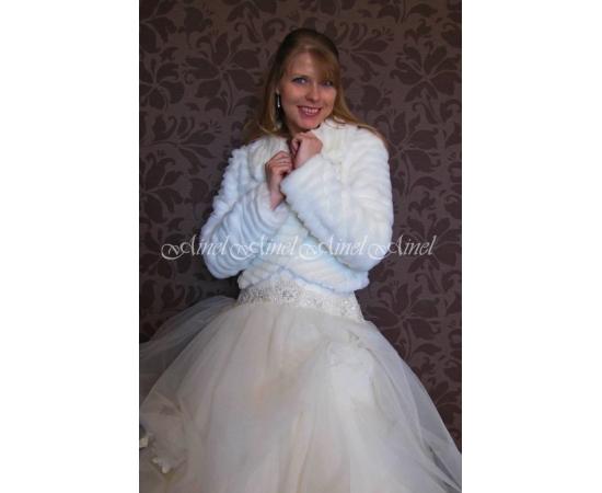 Свадебная шубка №75 для невесты прокат