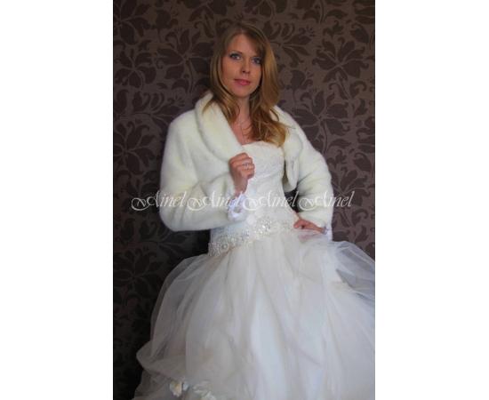 Шубка на свадьбу №71 для невесты напрокат