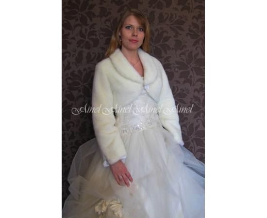 Свадебная шубка №71 для невесты прокат