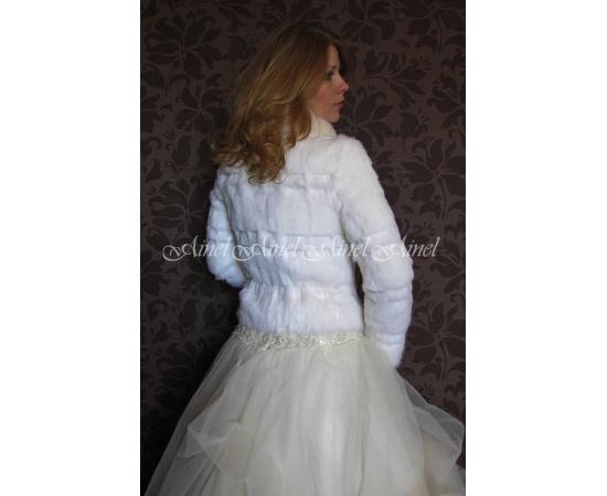 Шубка на свадьбу №78 для невесты прокат