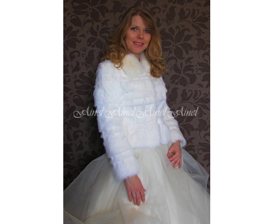 Шубка на свадьбу №78 для невесты в прокат