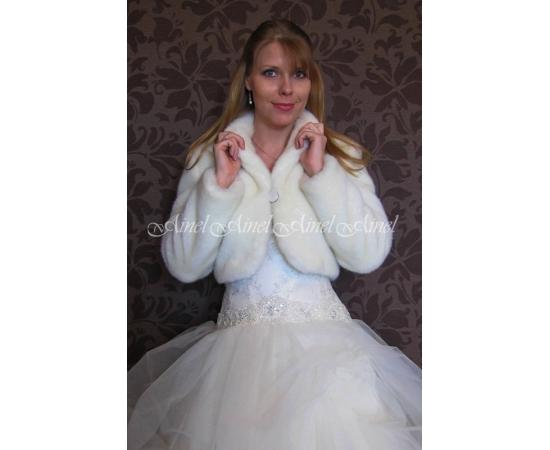 Шубка на свадьбу №85 для невесты напрокат