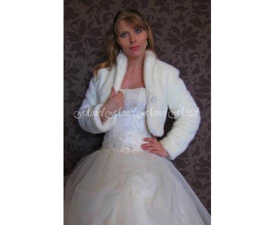 Шубка на свадьбу №85 для невесты в прокат