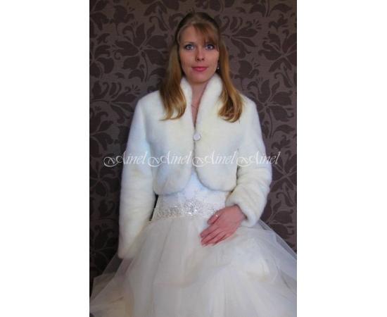 Свадебная шубка №85 для невесты напрокат