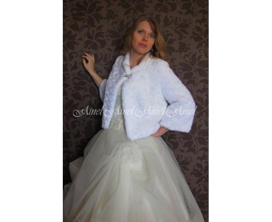 Шубка на свадьбу №72 для невесты прокат