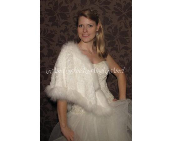 Накидка на свадьбу №65 для невесты напрокат