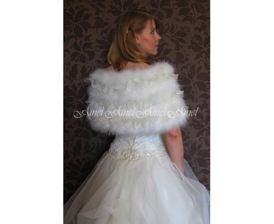 Накидка на свадьбу №82 для невесты в прокат