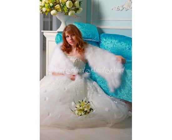 Палантин на свадьбу №105 для невесты напрокат