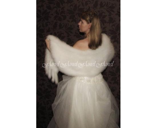 Палантин на свадьбу №66 для невесты напрокат