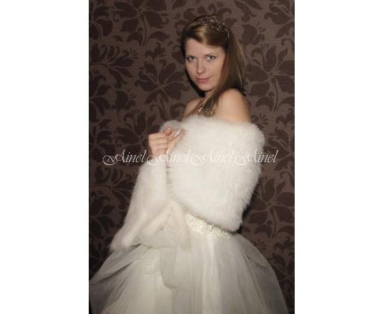 Палантин на свадьбу №66 для невесты прокат