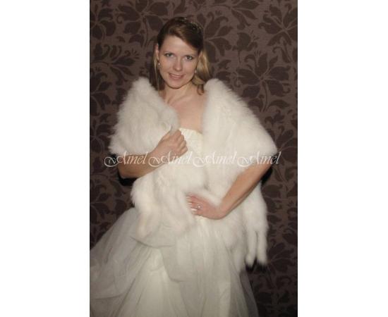 Палантин на свадьбу №66 для невесты в прокат