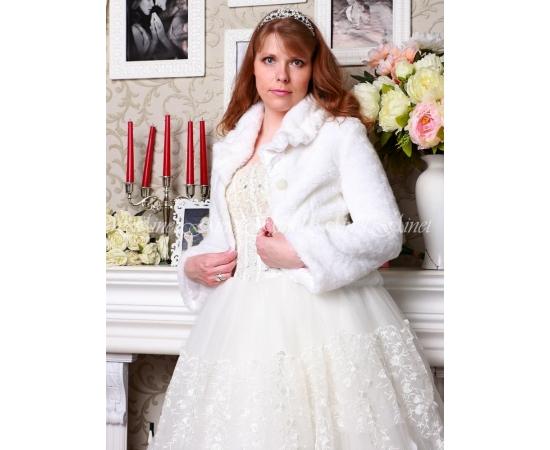 Свадебная шубка №93 для невесты напрокат