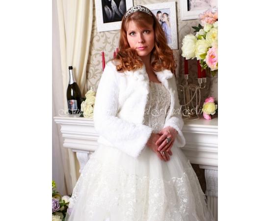 Свадебная шубка №93 для невесты прокат.