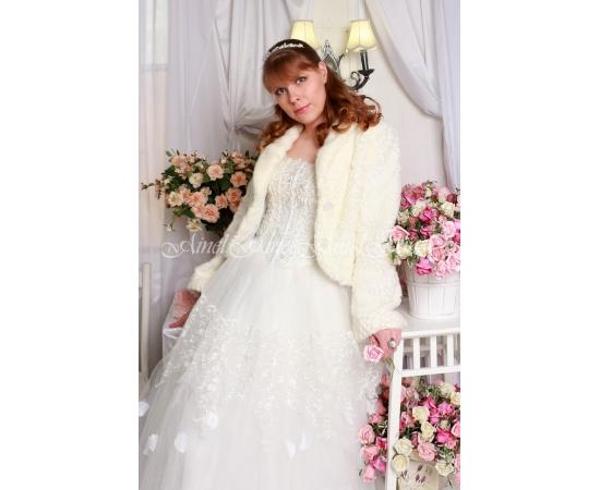 Шубка на свадьбу №94 для невесты напрокат