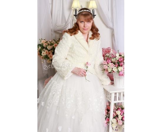 Свадебная шубка №94 для невесты напрокат