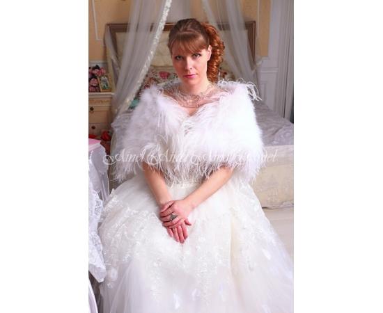 Накидка на свадьбу №104 для невесты напрокат