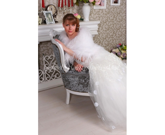 Свадебная накидка №104 для невесты напрокат