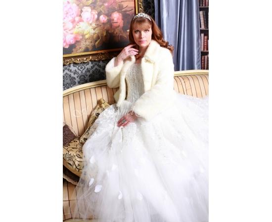 Свадебная шубка №100 для невесты напрокат