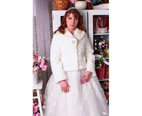 Шубка на свадьбу №101 для невесты напрокат