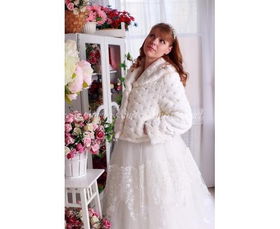Свадебная шубка №101 для невесты напрокат