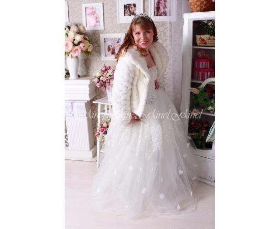 Свадебная шубка №101 для невесты прокат
