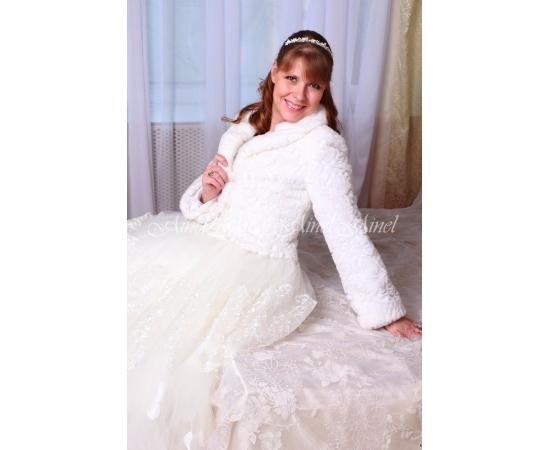 Свадебная шубка №102 для невесты напрокат