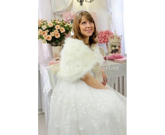 Свадебная накидка №103 для невесты напрокат