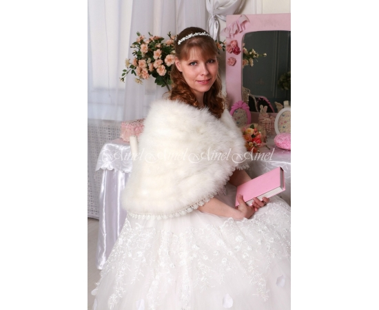 Накидка на свадьбу №107 для невесты напрокат