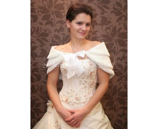 Свадебная горжетка №25 для невесты прокат