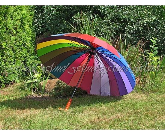 Зонт-трость №8 Радуга Макси