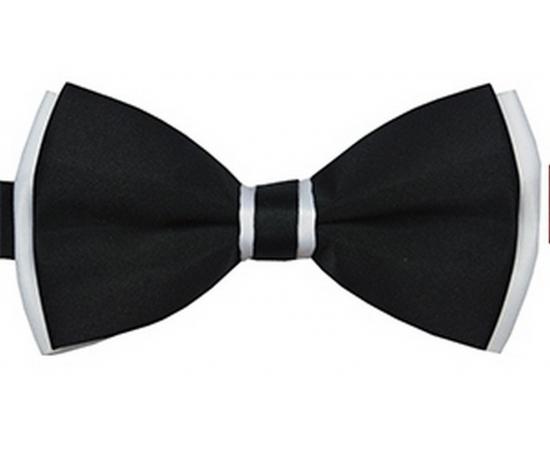 Галстук-Бабочка №1-38 черно-белый