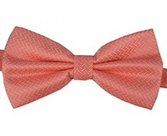 Галстук-Бабочка №2-57 розовый в елочку