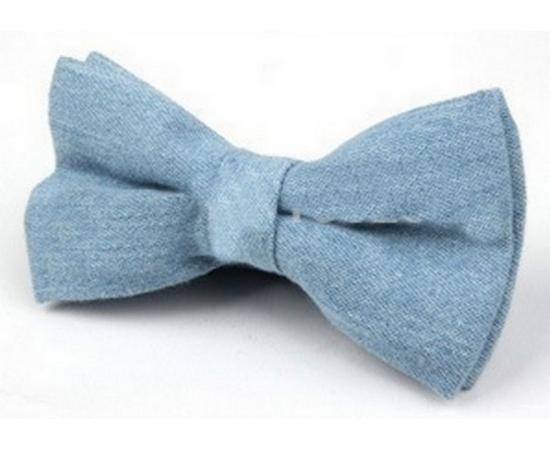 Галстук-Бабочка №2-82 голубой джинса